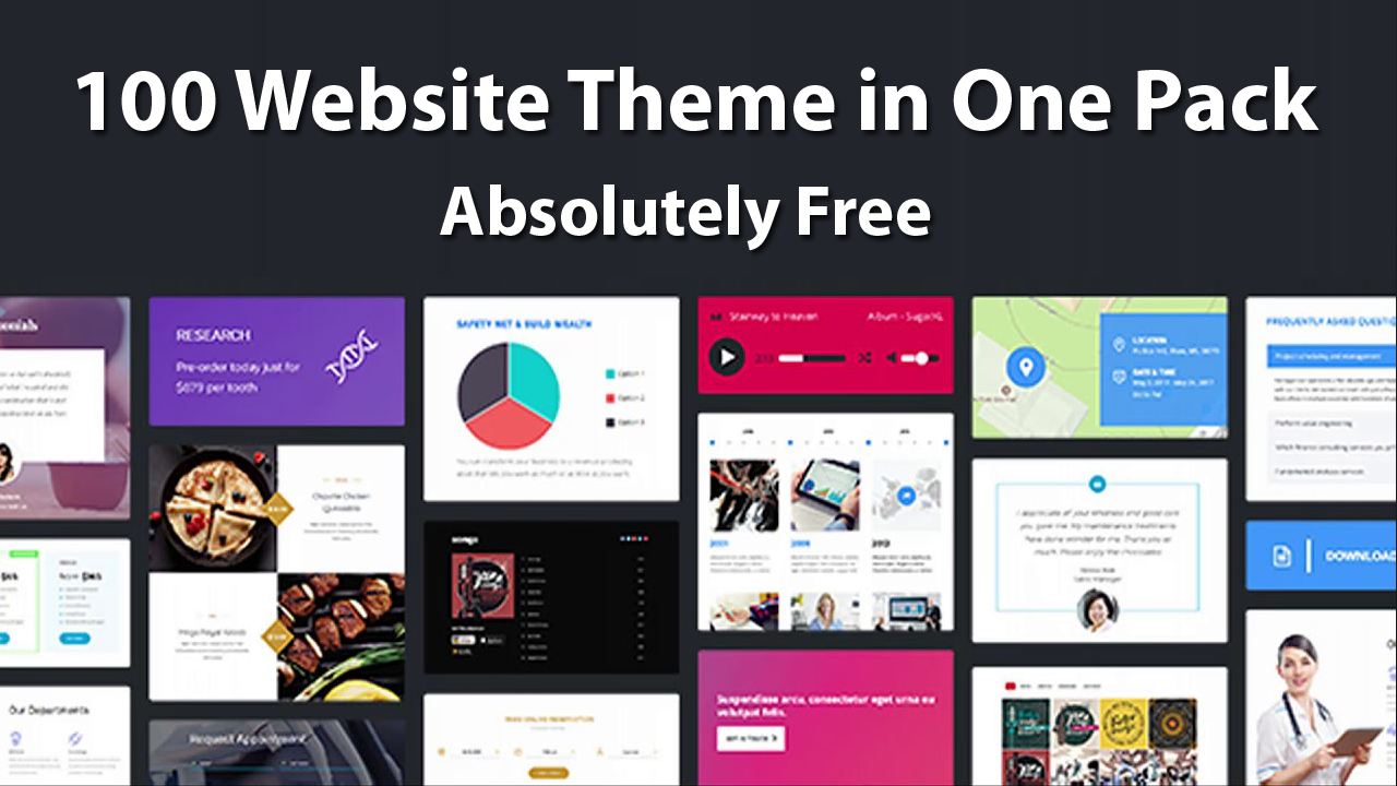 100 Website Theme in One Pack – Absolutely Free 2018