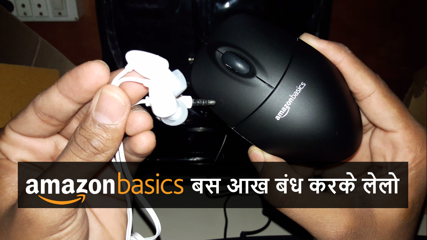 Amazon Basics In-Ear Headphones and Mouse Unboxing 2018