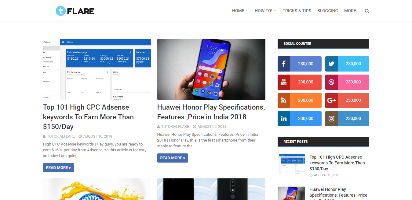 Adsense Friendly Fully Customize Free Blogger Template