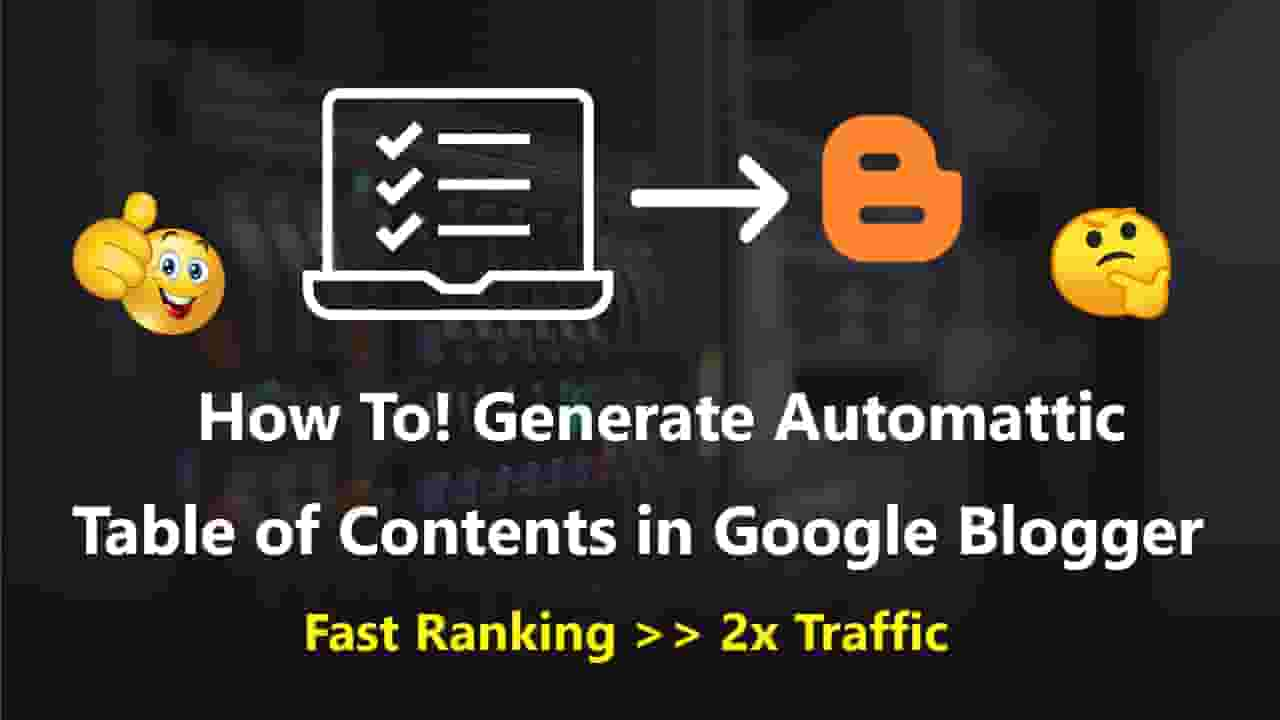 How to Add Automattic Table of Contents in Google Blogger in हिन्दी