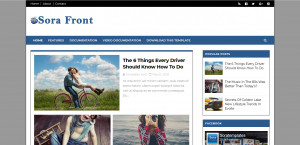 High Quality Adsense Friendly Free Blogger Template 3