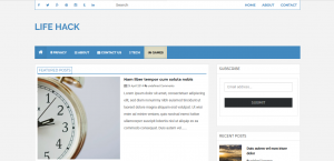 High Quality Adsense Friendly Free Blogger Template 4