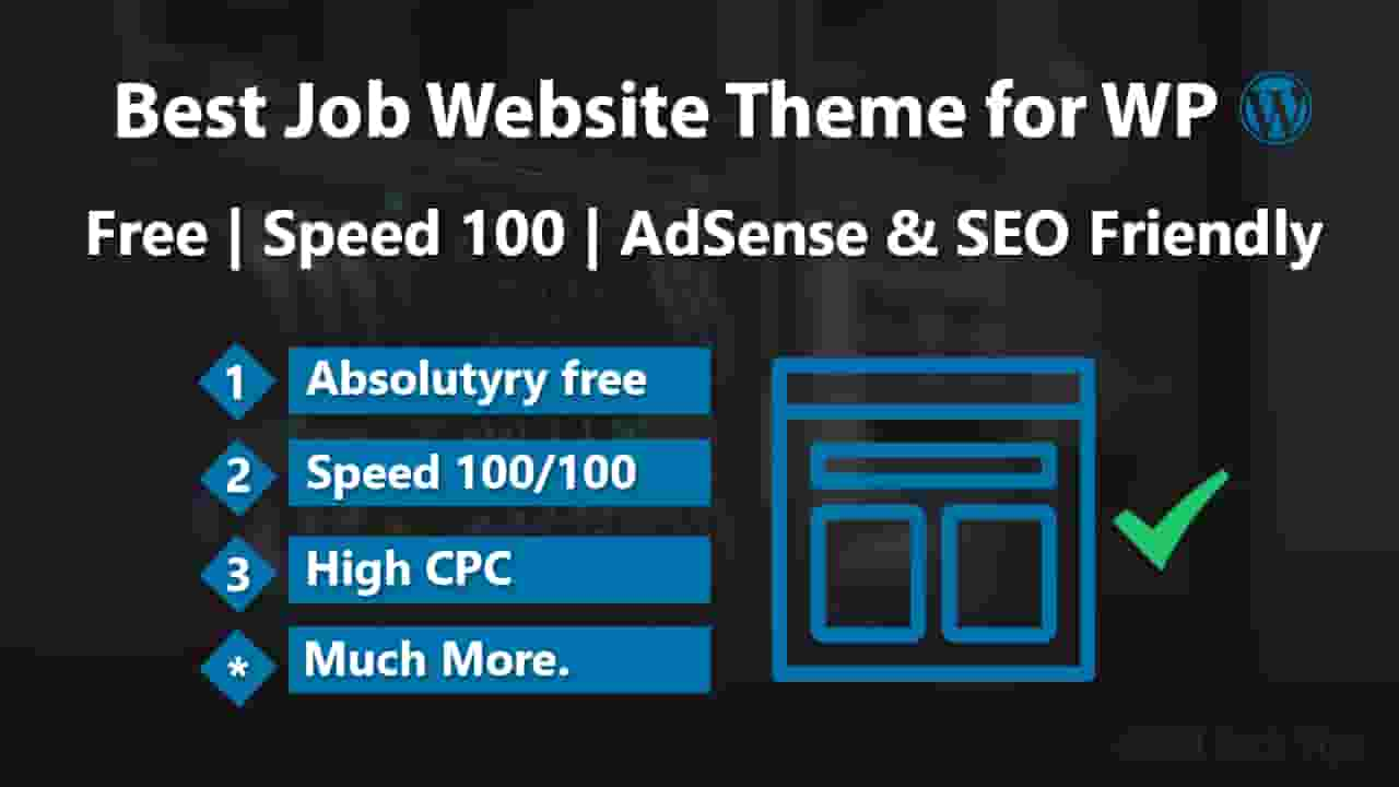 WordPress Job Website Theme Free Download 2019