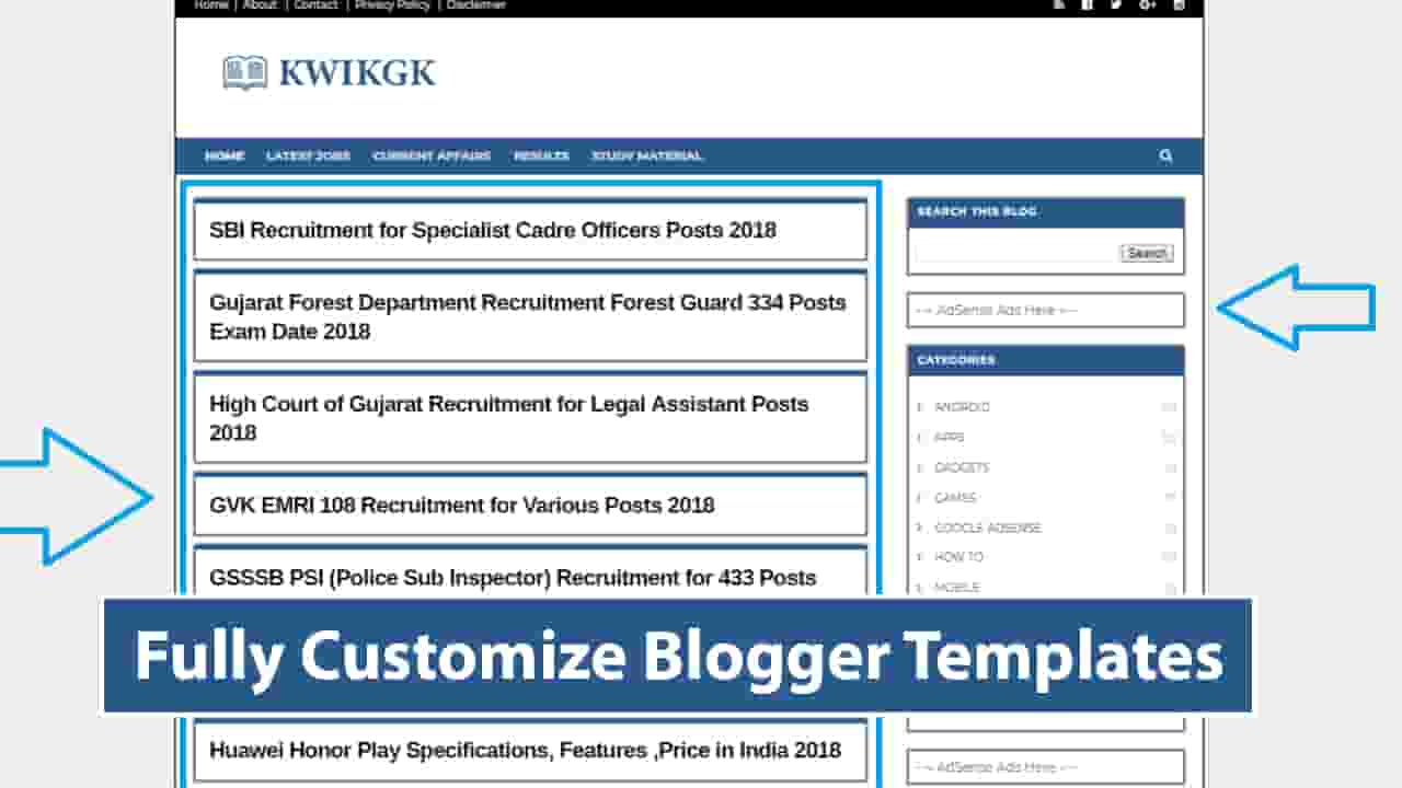 [Updated] Job Website Fully Customize Blogger Template Free Download