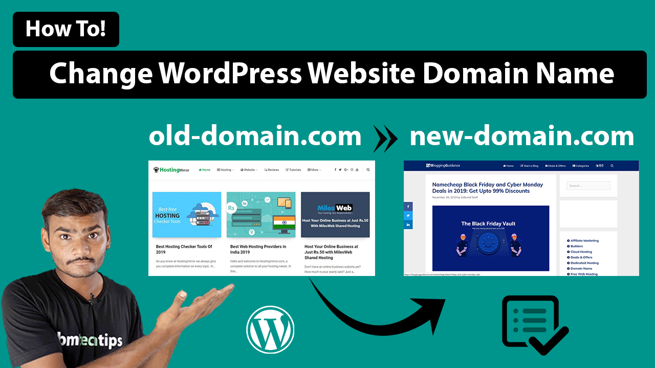 How To Change WordPress Website Domain Name