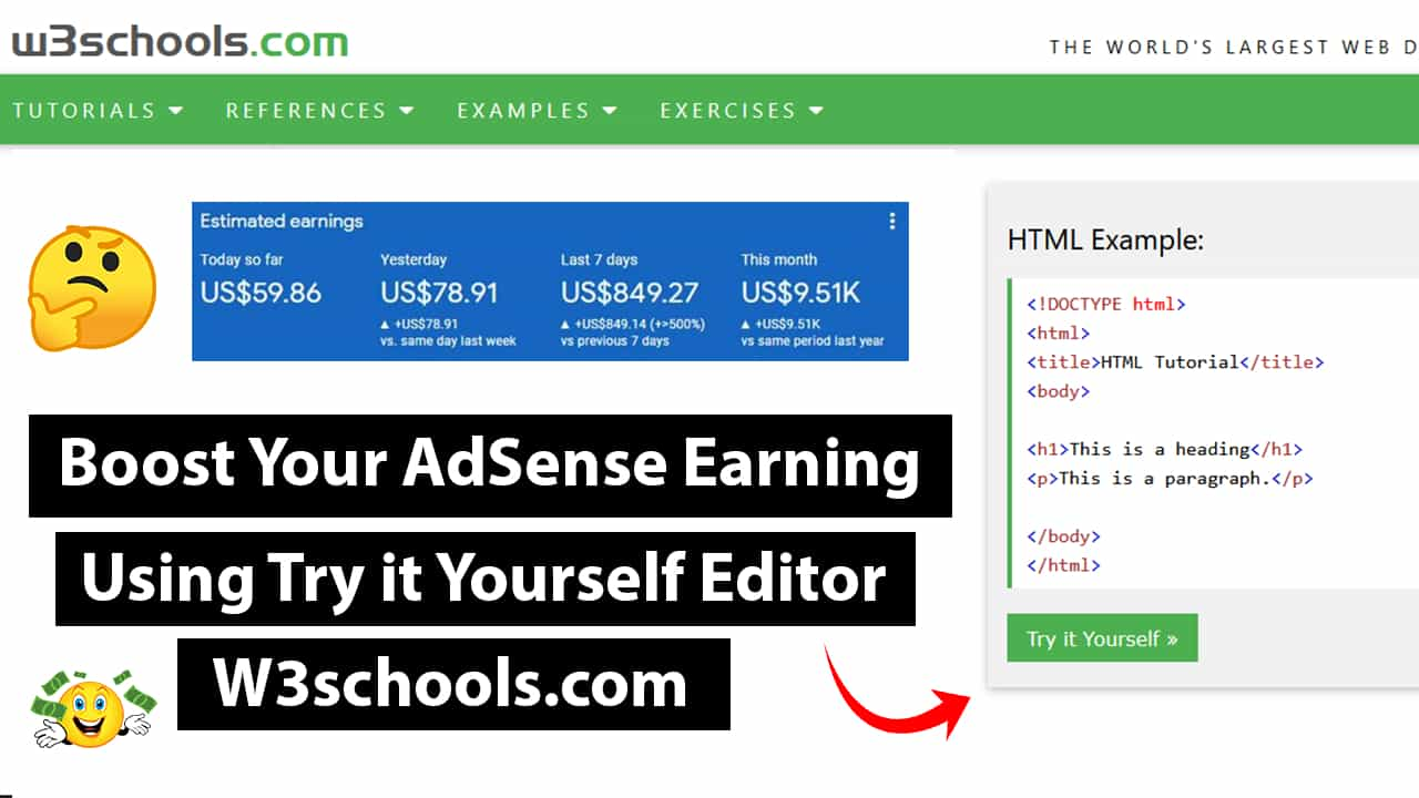 How To Make Try it Yourself Editor Like W3schools