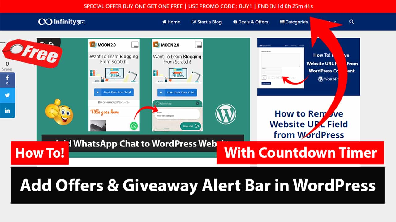 How to Create an Alert Offers Bar in WordPress Free